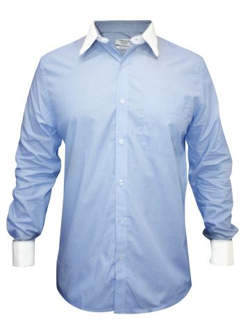 Turtle Pure Cotton Light Blue Regular Fit Shirt at cilory