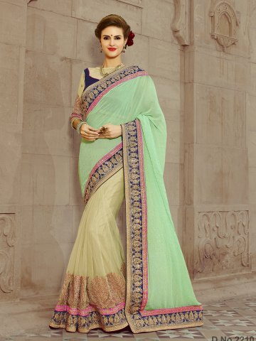 https://static1.cilory.com/147181-thickbox_default/shivanjali-pista-green-designer-saree.jpg