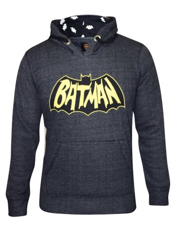 Batman Anthra Melange Hoodie at cilory