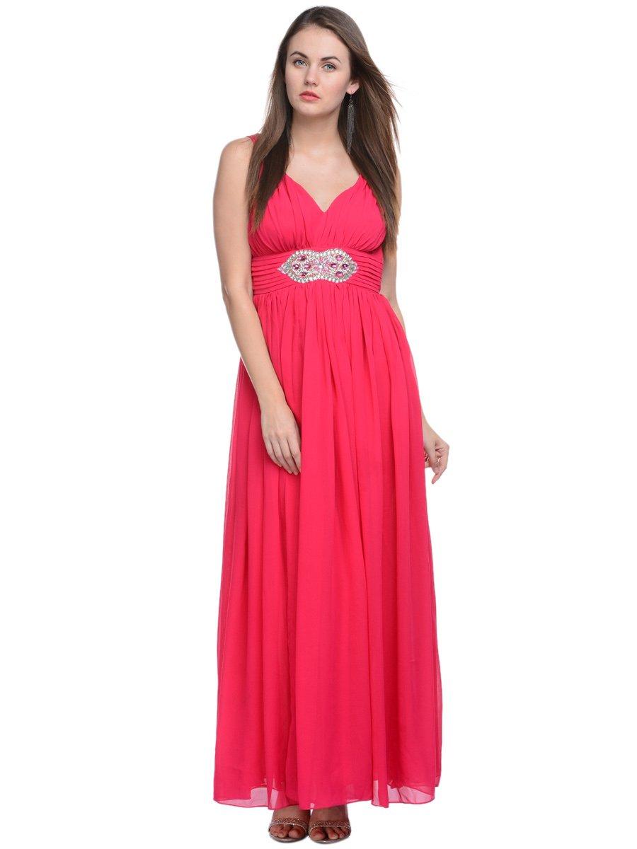 Adaa\'s Fuschia Western Style Gown | Gwnss15009 | Cilory.com