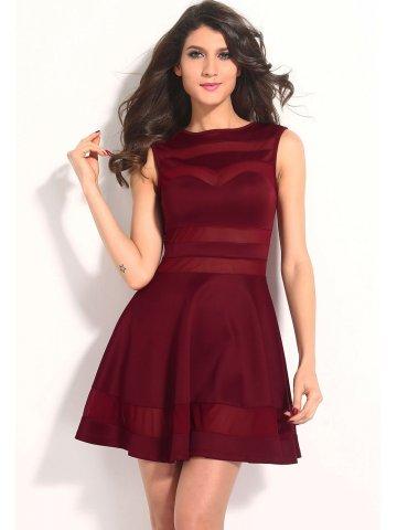 https://static6.cilory.com/167888-thickbox_default/dull-red-mesh-panel-club-skater-dress.jpg