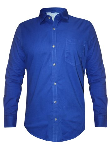 Peter England Pure Cotton Royal Blue Shirt at cilory