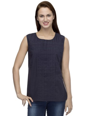 https://static8.cilory.com/173612-thickbox_default/primoknot-navy-blue-top-with-pleats.jpg