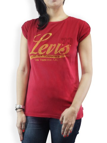 Levis Red Women Tee at cilory