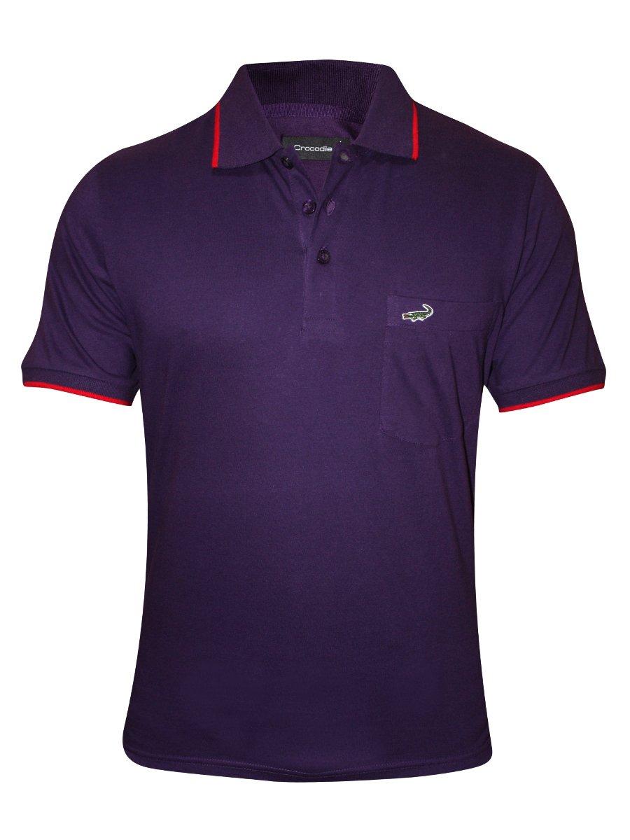 Crocodile mid purple pocket polo t shirt numero ae for Polo t shirts with pocket online