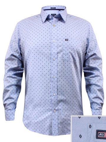 Arrow Pure Cotton Sky Blue Formal Printed Shirt at cilory