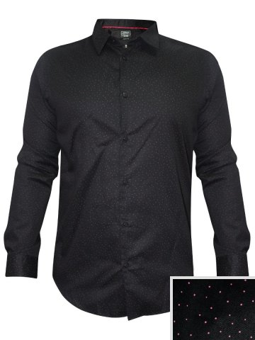 Arrow Pure Cotton Black Printed Formal Shirt at cilory