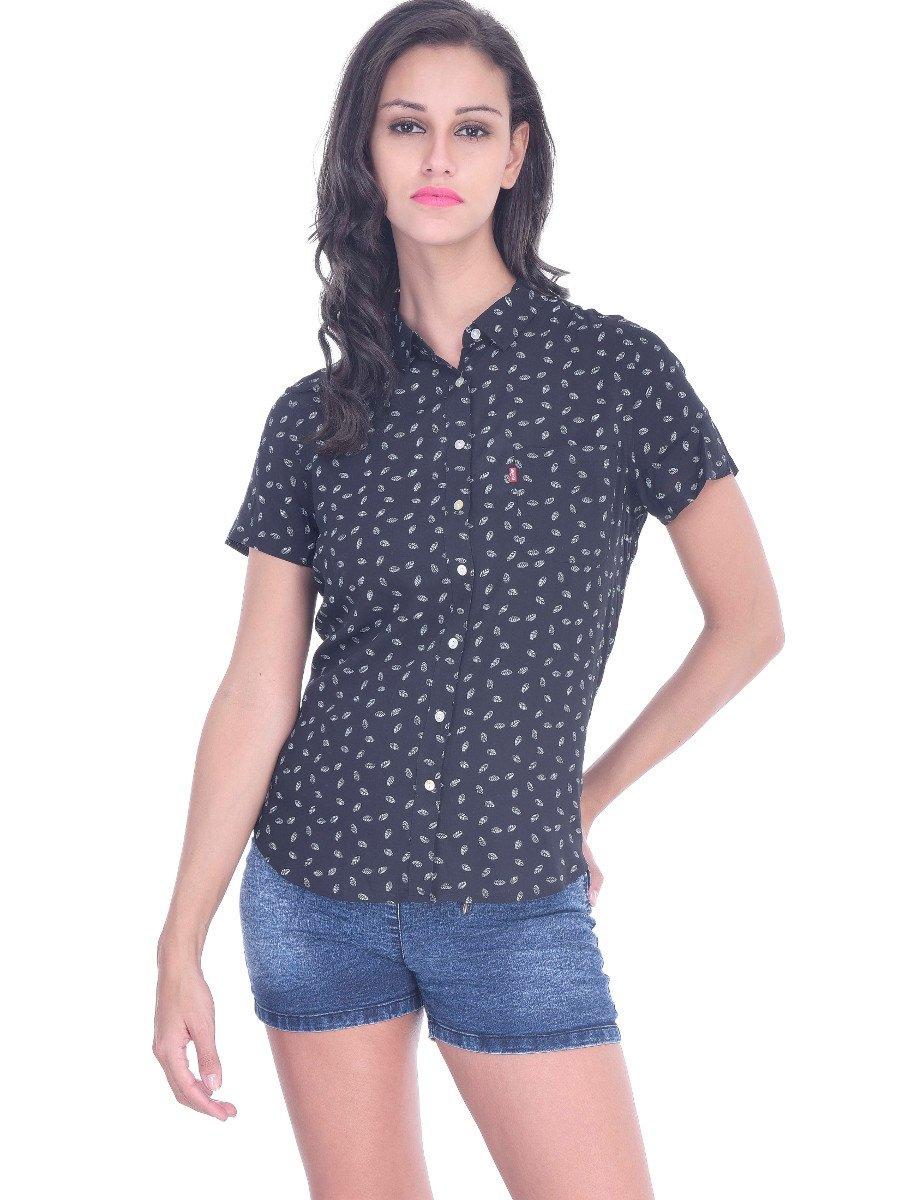 bbd379da Levis Black Women Shirt | 23857-0003 | Cilory.com