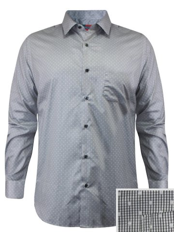 Peter England Grey Formal Printed Shirt at cilory