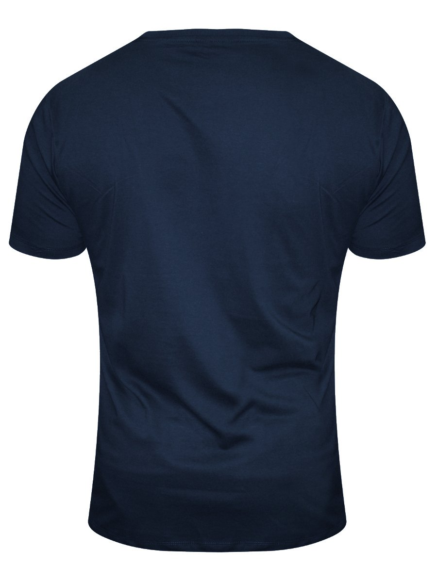 Buy T Shirts Online Vsquared Dark Blue Round Neck T