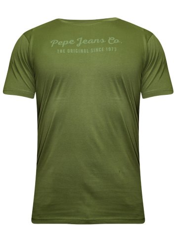 Pepe Jeans Green Round Neck T-Shirt at cilory