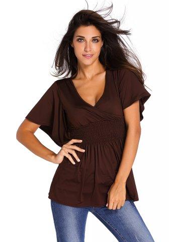 https://static3.cilory.com/205861-thickbox_default/brown-v-neck-short-batwing-sleeve-high-elastic-waist-blouse.jpg