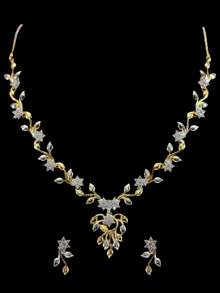 necklace zoom jewellers w y by view hover namaskar yellow chains gold purity set to necklaces in