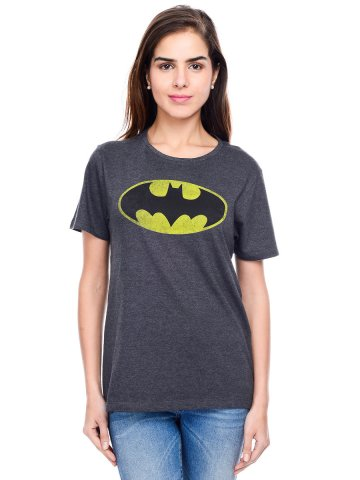 Batman Anthra Milange Round Neck Tee at cilory