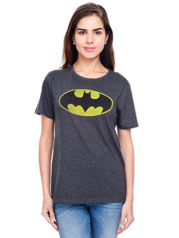 Batman Anthra Milange Round Neck Tee at cilory