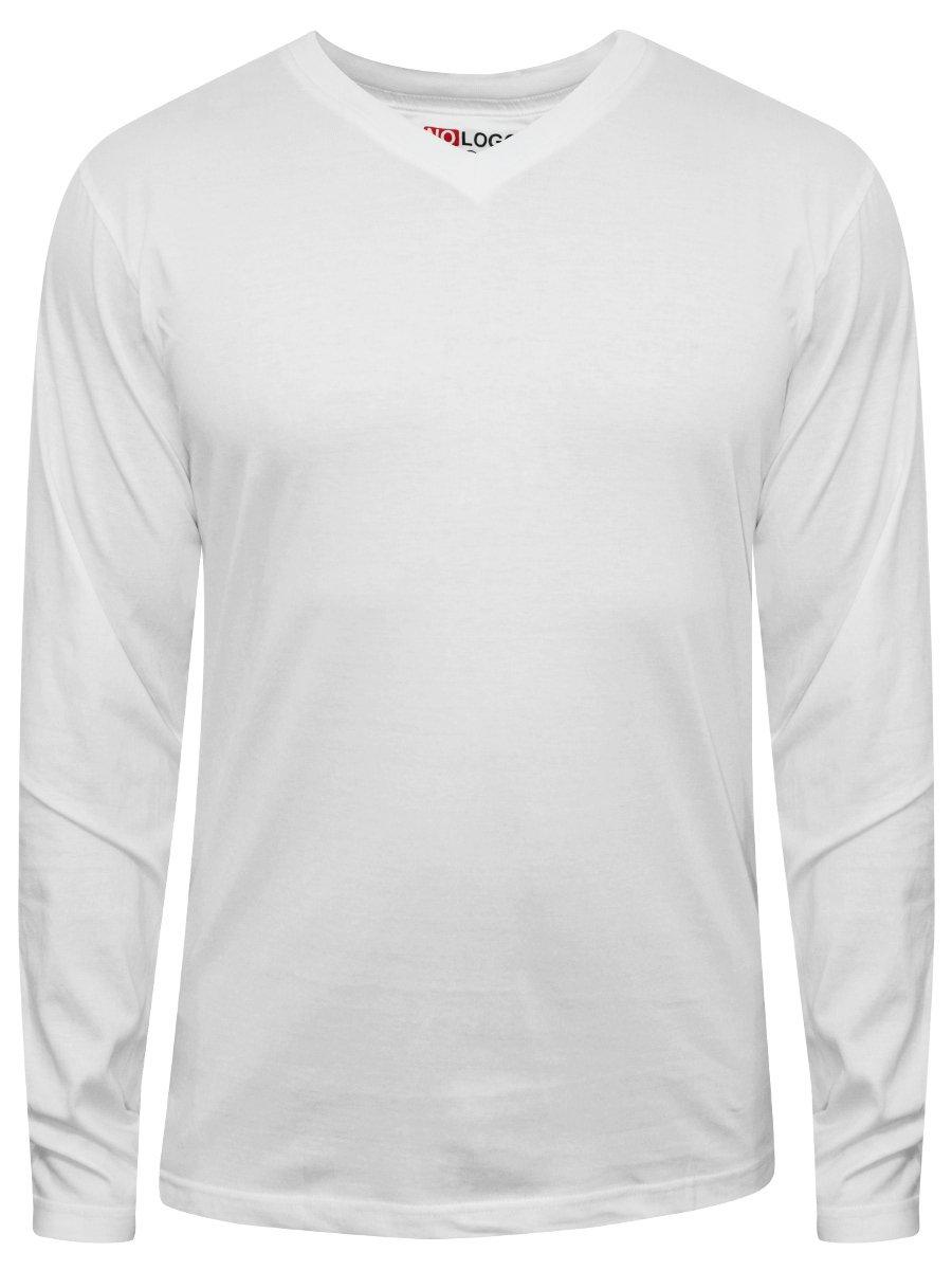 Nologo white v neck t shirt nologo vfst 068 for White t shirt v neck