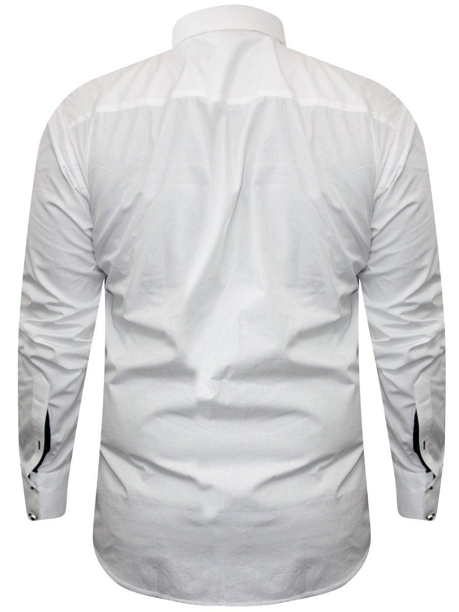 48b4f22e303 Alpha Male White Partywear Shirt