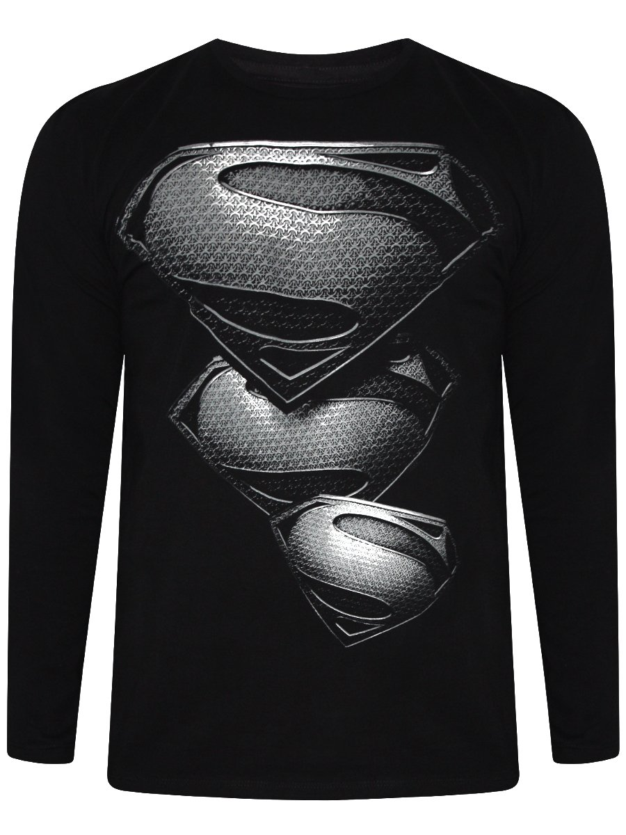 Buy T-shirts Online | Man Of Steel Black Round Neck T-shirt ...