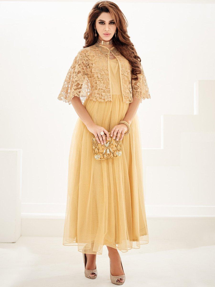 Shirt design kurti - Sasya Brown Designer Kurti