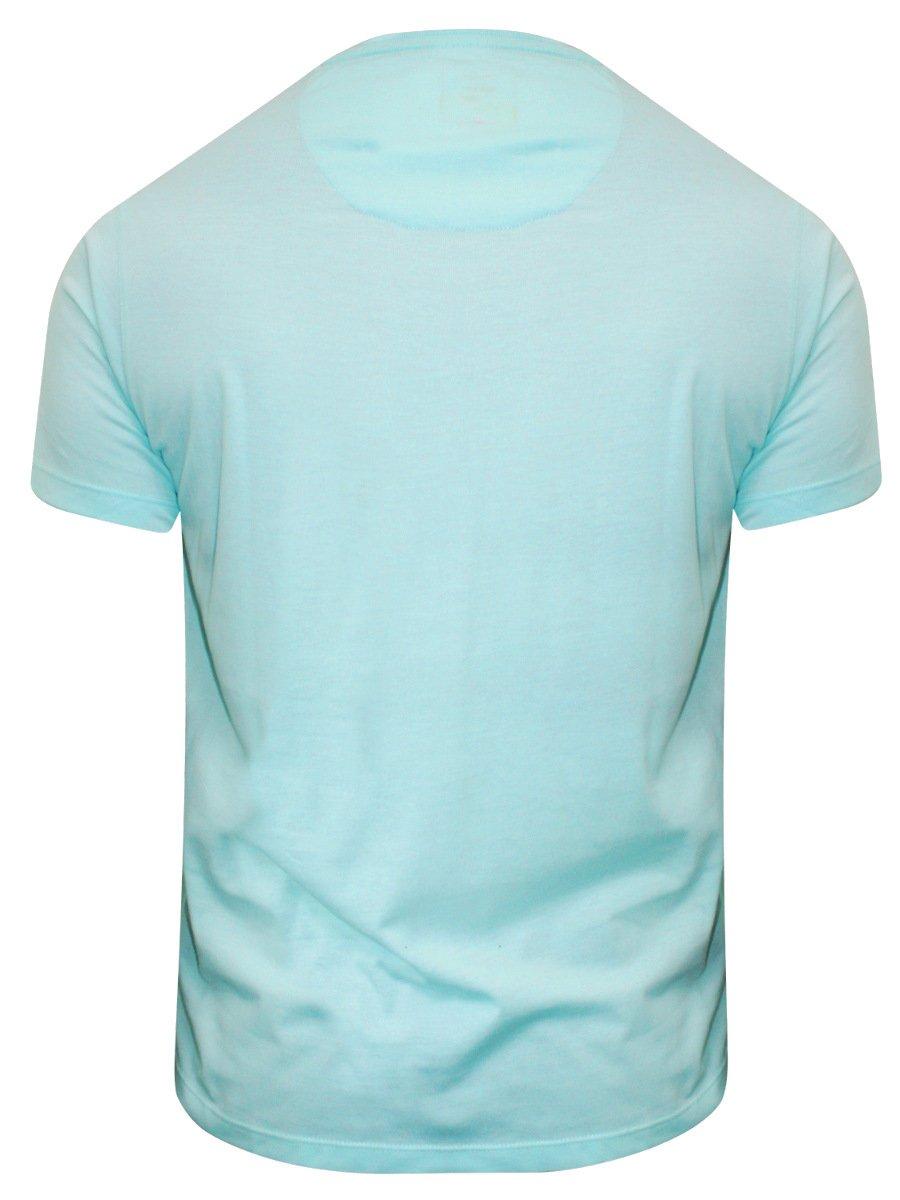 Buy t shirts online peter england aqua round neck t for Aqua blue color t shirt
