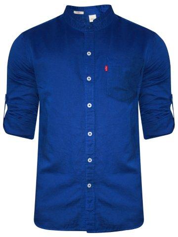 754af85e >Levis Royal Blue Casual Cotton Linen Shirt.  https://static.cilory.com/243824-thickbox_default/levis-