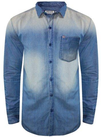 9125b401e4  Numero Uno Pure Cotton Blue Denim Shirt.  https   static2.cilory.com 244342-thickbox default numero-