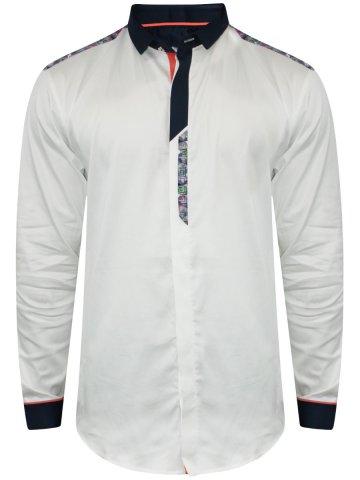 Flirt White Partywear Shirt at cilory