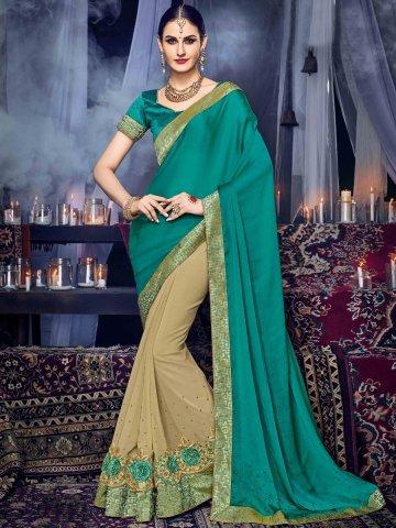 https://static9.cilory.com/315235-thickbox_default/poshaak-brown-green-designer-saree.jpg