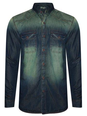 40d097b51a  Numero Uno Pure Cotton Blue Denim Shirt.  https   d38jde2cfwaolo.cloudfront.net 359708-thickbox default numero-
