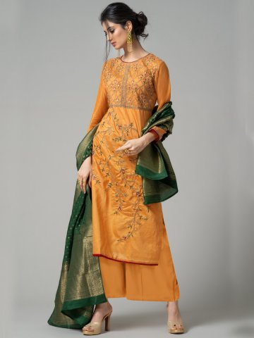 https://d38jde2cfwaolo.cloudfront.net/374078-thickbox_default/mustard-semi-stitched-embroidered-suit-with-jacquard-dupatta.jpg