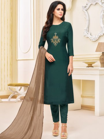 https://d38jde2cfwaolo.cloudfront.net/382606-thickbox_default/bottle-green-semi-stitched-embroidered-suit.jpg
