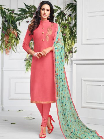 https://static5.cilory.com/407646-thickbox_default/hot-pink-chanderi-cotton-semi-stitched-suit.jpg